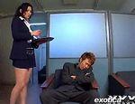 セクシー巨乳痴女OLの誘惑フェラ