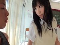 文化祭で勃起チンコを堪能する女子校生