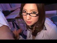 色っぽいメガネ巨乳痴女教師に責められるボク