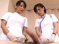 看護師達に偶然を装い勃起チン○を見せつけると・・・