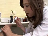 一度味わったらやみつき美人医師による尿道一本刺!