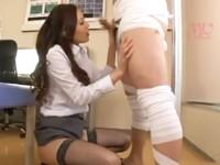 エリート女医が発情して患者を押し倒し逆レイプ