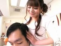 爆乳Iカップを男性客に押し付けてくる痴女な美容師さん