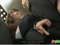 欲求不満な痴女OLはエレベーターで逆痴漢をしてスリルを楽しむ