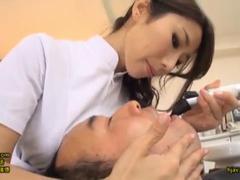 歯の治療中におっぱいを押し付けてくるGカップの歯科衛生士