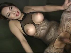 全身網タイツのケバえろ巨乳美熟女の下品な淫語責めセックス 風間ゆみ