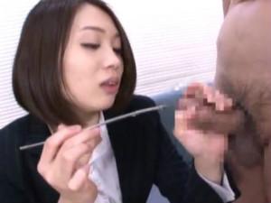 セクシーエロお姉さんがM男の尿道に棒をさしていく尿道責め 杏子ゆう