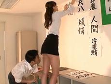【神波多一花】男子生徒の憧れの先生は学校内ではいつもノーパンだった