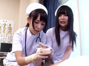 泌尿器科の痴女ナースが早漏患者を寸止めで治療する!ほのかまゆ 小西まりえ