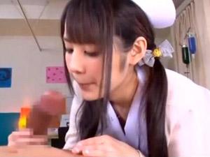 【M男動画】佳苗るか M男の早漏を治すため特訓してくれる童顔痴女ナース