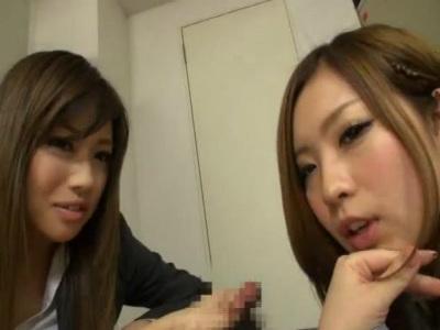 先輩OLを盗撮しようとしたら見つかってしまい拷問手コキされるM男性社員 瀬名あゆむ 中川美香