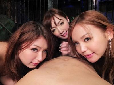 痴女三姉妹が逆レイプをして犯罪者を懲らしめるハーレム痴女セックス 冬月かえで 長谷川ミク 丘咲エミリ