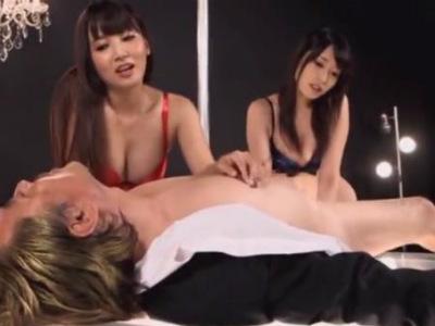 痴女2人のイヤラシすぎる前立腺責めにドライオーガズムでメスイキするM男 有村千佳 友田彩也香