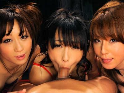 ゴージャス過ぎる3人の痴女がM男をおもちゃにして責めまくる 川上ゆう 管野しずか 澤村レイコ