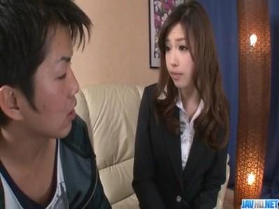 無修正痴女動画 定められた法律で男をフェラで強制射精する美人痴女 広瀬藍子
