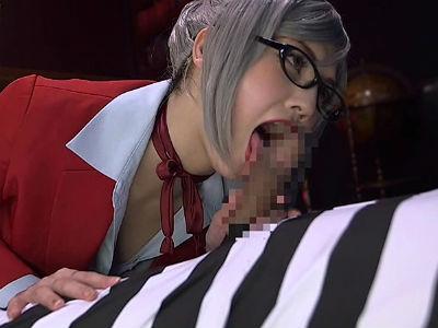 囚人チ○ポからザーメンを一滴残らず搾り出す監獄学園の副会長コスプレした痴女 みづなれい