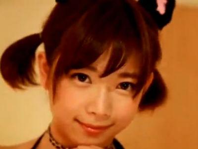 ネコミミコスのショートヘア美少女が焦らしまくって発射させらザーメンをごっくん 紗倉まな