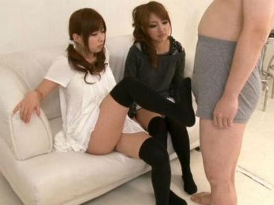 美脚痴女2人に罵倒されながら足コキで絶頂 成瀬心美(ここみ) 紗奈 小倉莉音 SHU-MEI