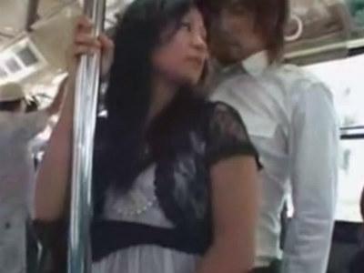 「路線バスで美淑女の尻に勃起チ○ポを擦りつけたらヤられるか?」 VOL.1