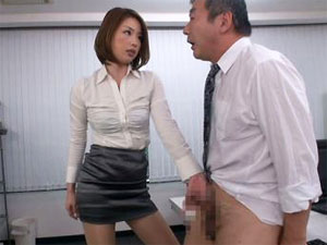 「今から鍛え直すから」部下をビンタ手コキで鍛え直す女部長 かすみりさ