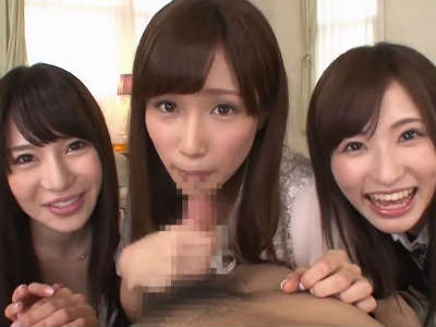 「じゃぁ次あたしね」美人3姉妹に順番にフェラされる 葵 小島みなみ 天使もえ