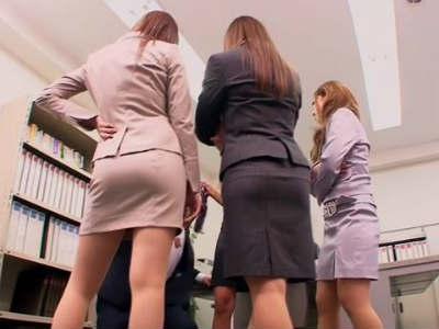 新人研修と称してM男性社員がOLたちに変態プレイを強要される 瀬名あゆむ 向井杏 中川美香 北川いつき