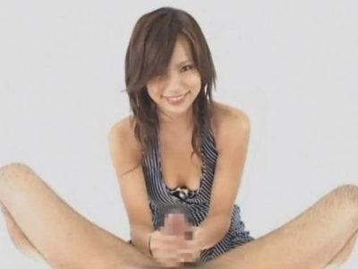 元アイドルが淫語を囁き手コキとフェラでチンポを弄ぶ主観動画 山崎亜美
