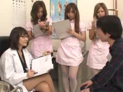 エッチな女医とナースのハーレムチンポ測定 AIKA 武井麻希 立花樹里亜 西木美羽 間宮純