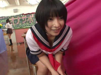 「見られるのが好き?」女子校の文化祭でセンズリ鑑賞しれもらった 阿部乃みく あず希 さくらみゆき 宮崎あや