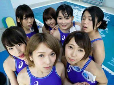 【VR痴女動画】7人の競泳水着女子がボクのチンポを奪い合う 椎名そら かなで自由 宮崎あや 長澤ルナ 水澤りこ 藤川れいな 七海ゆあ