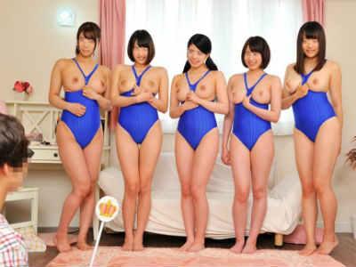 水泳部の女子大生たちと非モテの童貞男子が王様ゲーム! 松下美織 桜咲姫莉 橋下まこ