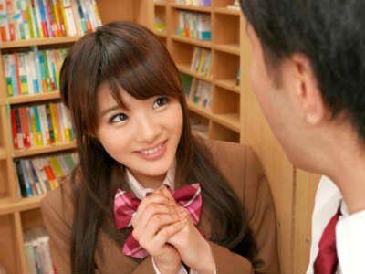 転校してきた美少女が放課後に図書館でバレないようにエロ行為をしてきた 相沢みなみ