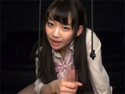 H「一杯聞いて…」JKささやき淫語手コキ射精! 姫川ゆうな