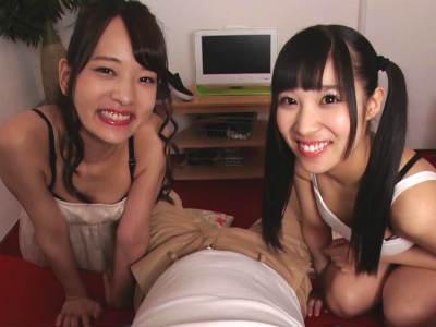 可愛い妹たちはボクのチンポを2人で舐め回すんです あべみかこ あやね遥菜