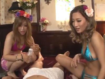 「ヤバくね?」客にもタメ口のギャルエステで勃起してしまい足コキされるM男 AIKA 早坂リア