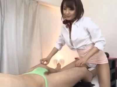美人エステティシャンに乳首とちんぽをアナルを責められ悶絶するM男 夏目優希