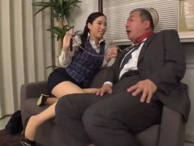 「これで社長も私のペットですね」ドSなOLが社長すらも淫語で調教する 二宮和香