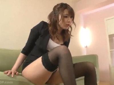 美人痴女のM男チンポイジメがエロすぎてフルボッキしてしまう 桜井あゆ