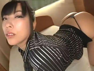 ヒップ96センチ!エロ顔に巨尻のお姉さんが挑発! 美谷朱里