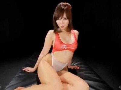 「くっさいオチンポ汁…中出ししていいのよ…」変態淫語を言いまくりながらキャンギャルがセックス KAORI