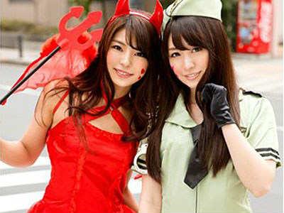 【ハロウィンナンパ】仮装してる美人なお姉さんはなんとナース!スレンダーな激カワ美女とシックスナインで舐めあう