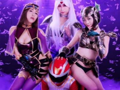 女幹部によるヒーロー集団凌辱!捕らわれのヒーローの肉棒を弄び快楽漬けにして戦隊を壊滅させる作戦を実行した敵女幹部たち!