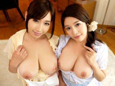GカップとHカップの爆乳妻2人にWパイズリされる一夫多妻のおっぱい生活 めぐり 佐山愛