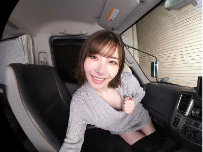 【カーセックスVR】「ここでキスして…」デートの帰りの車の中で誘惑してくる美女 深田えいみ