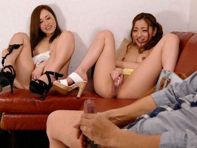 2人の美女とオナニーを見せ合いするオナクラがエロい 桐嶋りの 輝月あんり