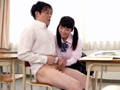 一緒に補修を受けていたクラスで一番人気の美少女が誘って来てフェラされた 後藤里香