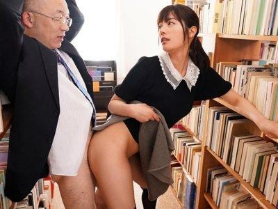 「射精する時のいやらしい顔…見せて下さい…」中年教授が美少女の生徒にネットリ痴女られる 楓カレン