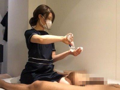 出張ローション手コキ隠し撮り・パンツ丸見え足コキオプション【松下(29歳)】